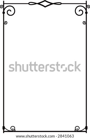 Ironworks border - decorative & scalable. - stock vector