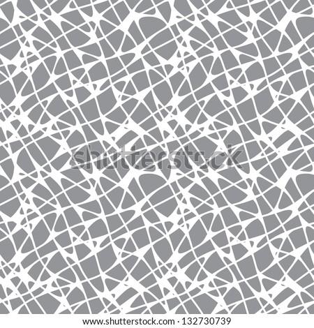 Irregular abstract grid pattern. Seamless texture - stock vector