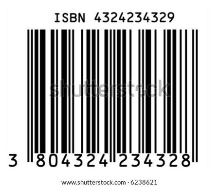ISBN barcode - stock vector