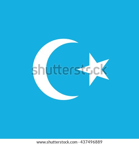Islam / islamic symbol icon / blue background / vector illustration