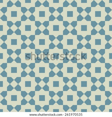 Islamic abstract geometric background. Seamless pattern. Vector illustration.  - stock vector