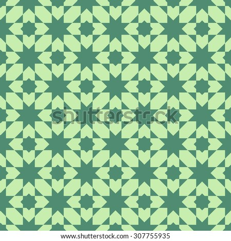 Islamic abstract geometric background. Seamless pattern. Vector illustration.