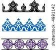 Islamic art borders - stock vector