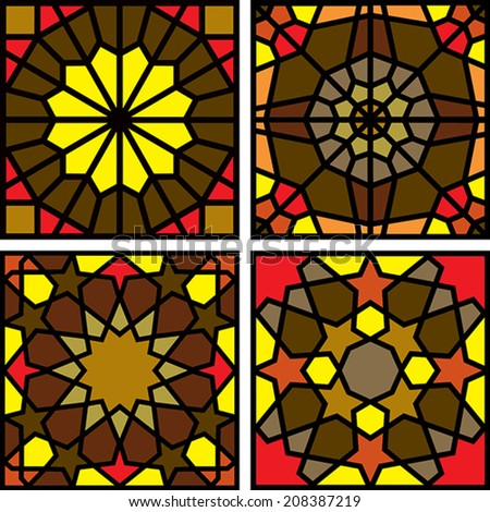 Islamic colorfull Pattern set - stock vector