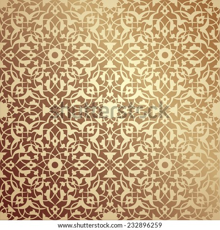 Islamic floral pattern - stock vector