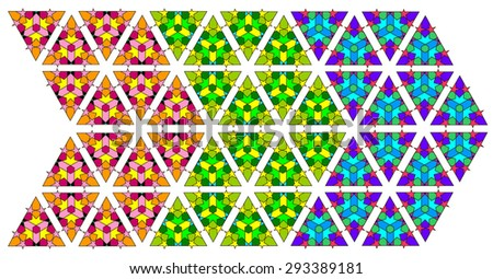 Islamic geometric ornamental pattern suitable for vector background in three color set - stock vector