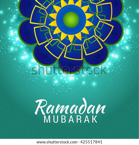 Islamic greeting card ramadan mubarak stock vector 425517841 islamic greeting card of ramadan mubarak m4hsunfo