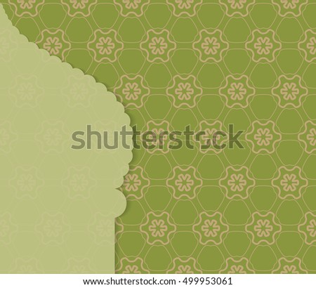 Islamic greeting card template arabic muslim stock vector 499953061 islamic greeting card template arabic muslim background seamless line pattern celebration card for m4hsunfo