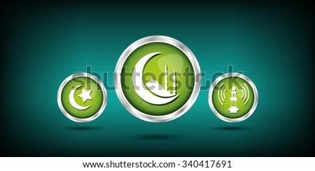 islamic icon - stock vector