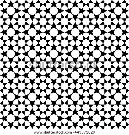 Islamic pattern, abstract geometric pattern vector
