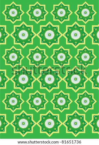 Islamic pattern background - stock vector
