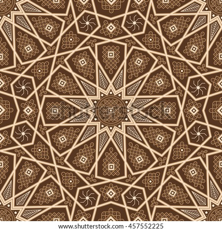 islamic seamless oriental vintage pattern abstract stock vector 457552198 shutterstock. Black Bedroom Furniture Sets. Home Design Ideas