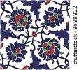 Islamic tile design - stock vector