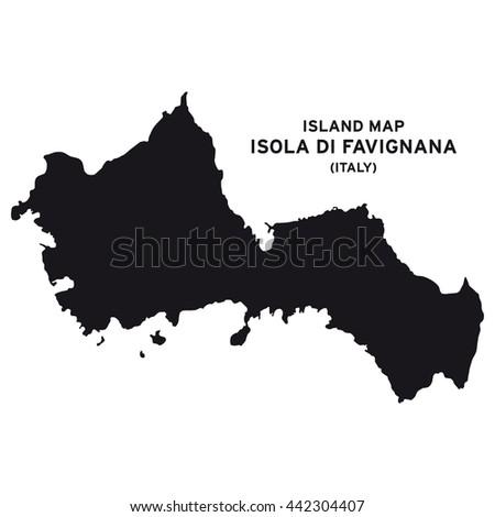 Island Map Isola Di Favignana Italy Stock Vector 2018 442304407