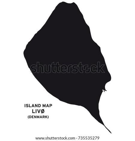 Island map of Livo, Denmark
