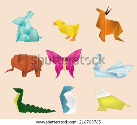 isolate of paper craft animal.
