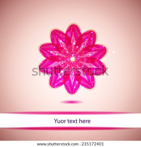 isolate pink flower - stock vector