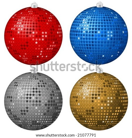 Isolated abstract  Christmas balls on a white background. Vector illustration.
