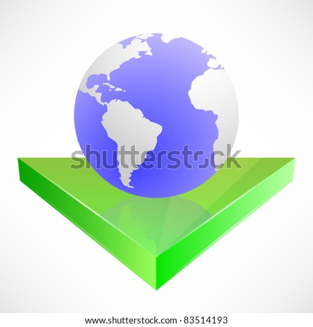 Isolated Abstract Earth Design