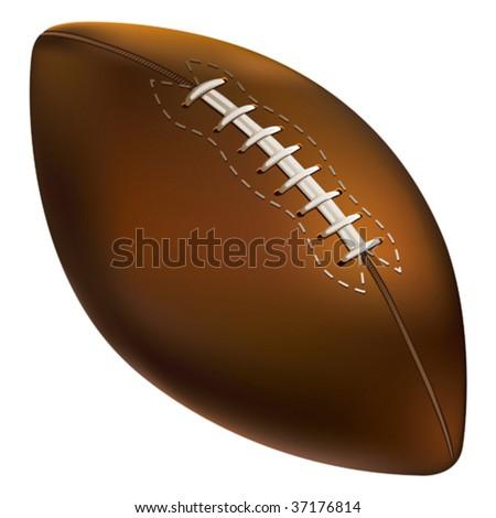 Isolated American football ball. Vector illustration. - stock vector