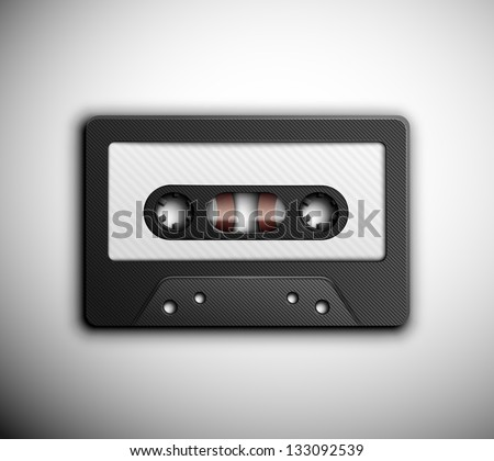 Isolated audio tape. Eps 10 - stock vector