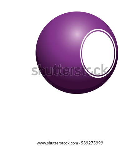 Isolated ball of billiard design