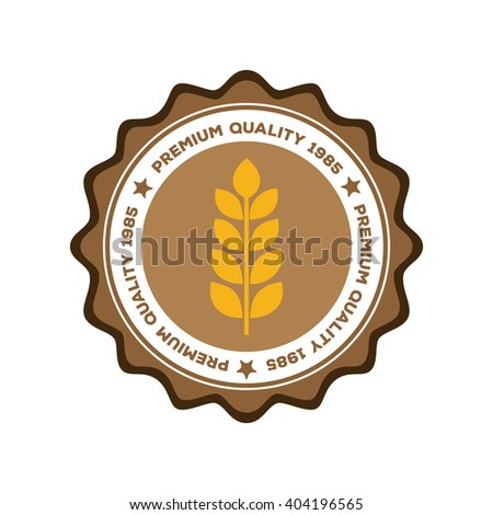 Isolated banner with text and a wheat icon