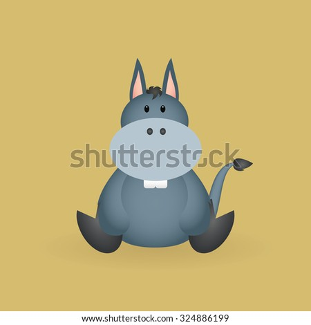 Isolated beautiful animal on a colored background - stock vector