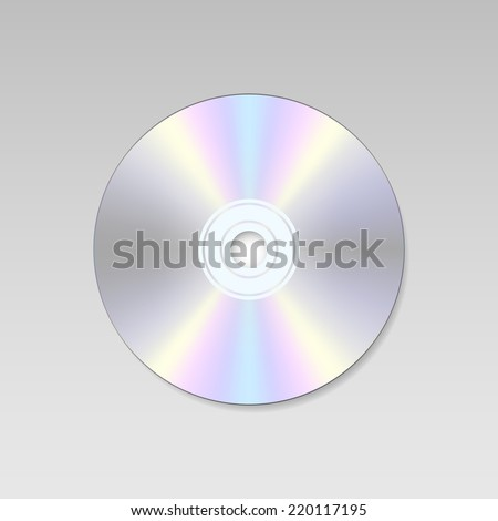 isolated Blank Compact disc CD or DVD (vector) - stock vector