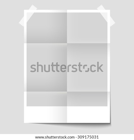 Isolated blank poster for the presentation of the design. Layout of the poster. Template poster. Poster Mockup - stock vector
