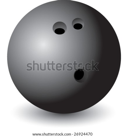isolated bowling ball - stock vector