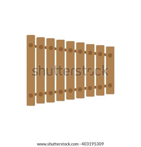 Isolated brown xylophone on a white background