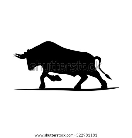 Isolated bull animal design