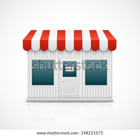 Isolated business stall, eps 10 - stock vector