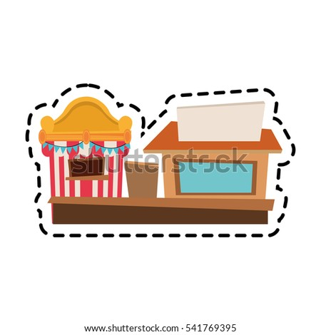 Isolated carnival tent and store design