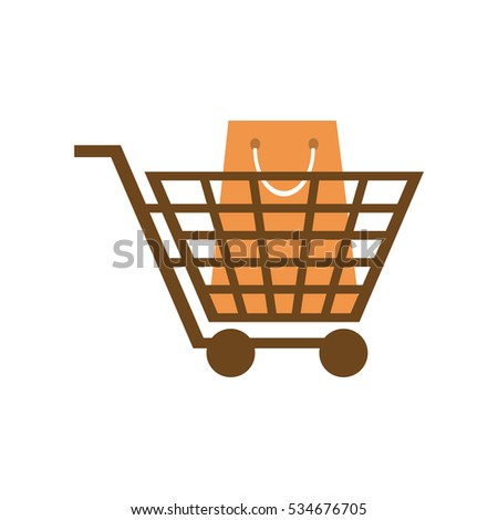 Isolated cart and shopping design