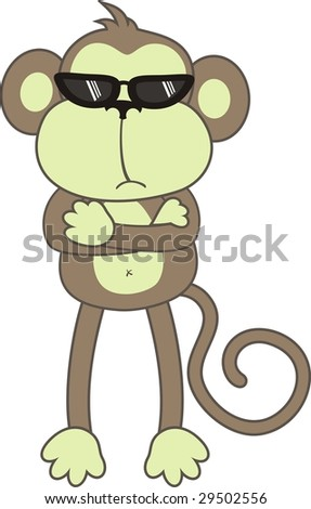 7 monkeys cartoons easy
