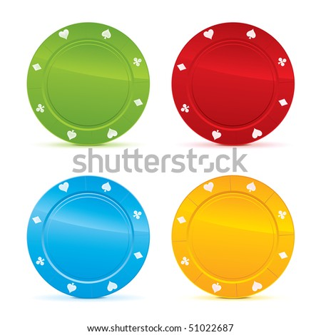 Isolated Casino Chip. Vector. - stock vector