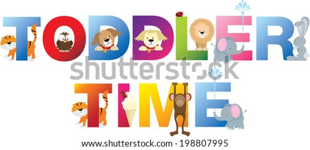isolated childrens alphabet cartoon word on a white background - stock vector