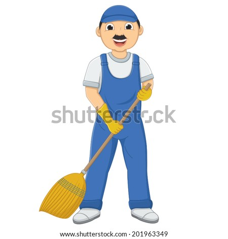Isolated Cleaner Vector Illustration - stock vector