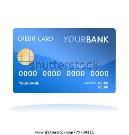 Isolated credit card - stock vector