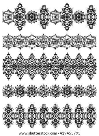Crochet flower stock images royalty free images vectors for Border lace glam