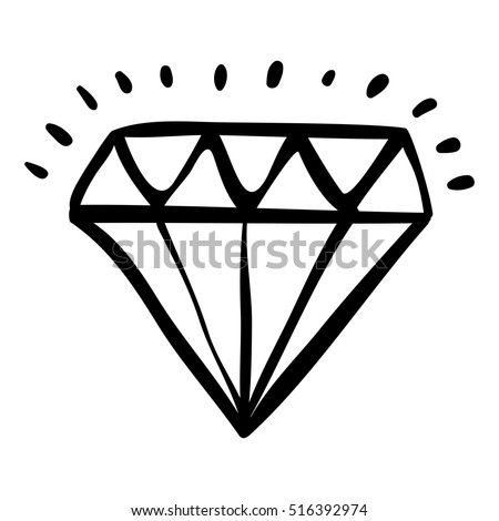 Isolated diamond draw design