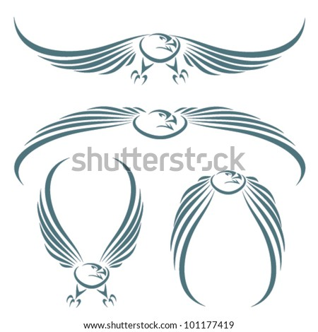Isolated eagle - vector illustration - stock vector