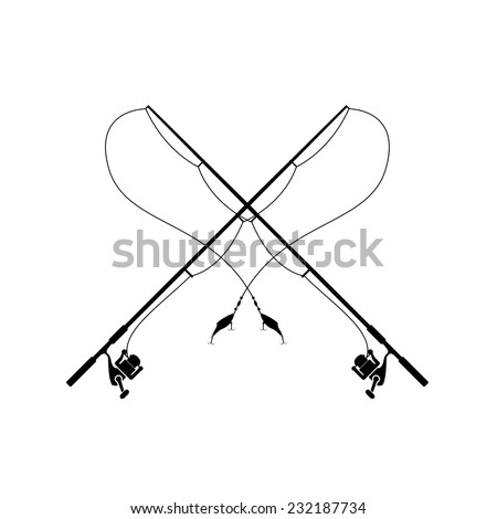 Isolated fishing rod stock vector royalty free 232187734 for Fishing poles near me