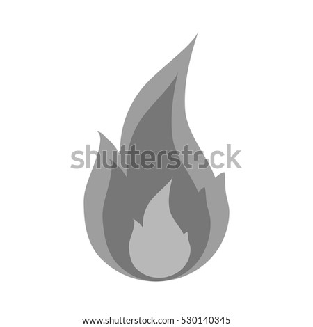 Isolated flame design