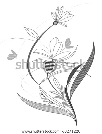 Isolated flower