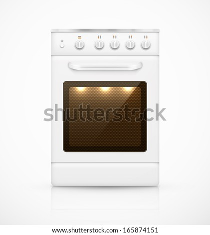 Isolated gas stove. Illustration contains transparency and blending effects, eps 10 - stock vector