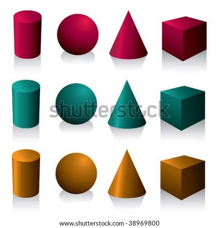 Isolated geometric objects. Vector illustration. - stock vector