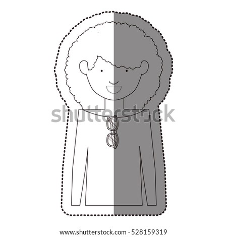 Isolated girl design